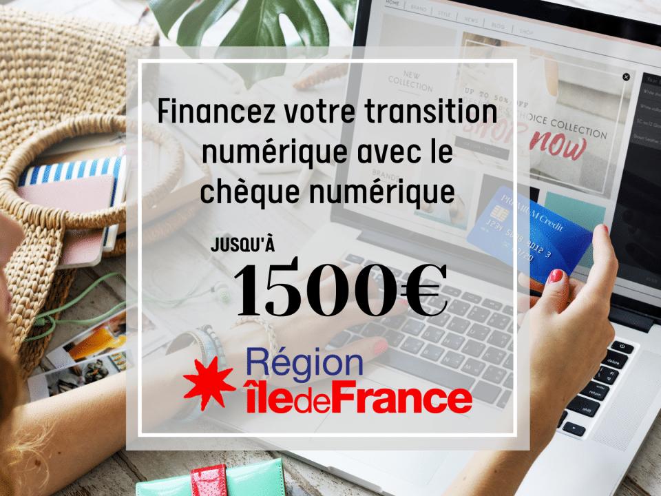 Chèque Numérique Ile de France